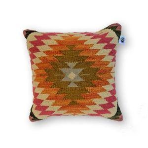 Orange kilim pillow cover